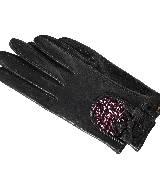 Miu Miu缪缪黑色亮片装饰手套
