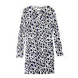 Diane von Furstenberg蓝×白几何连衣裙