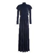 Tadashi Shoji庄司正古典绒面蓝色礼服