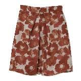 Giada迦达2014春夏系列红色花纹短裙