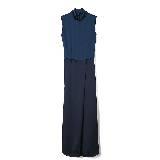 GIADA迦达古典蓝优雅长裙