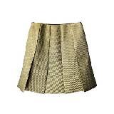 DVF 浅绿色帆布半裙