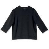GIADA迦达黑色基本款羊毛衫