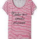 Etam 条纹字母T恤