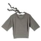 GIADA迦达瓦灰色短袖羊毛衫