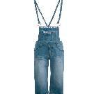 Etam 背带式卷边牛仔五分裤