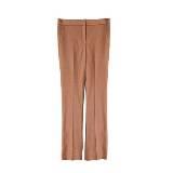 DVF 裸粉色真丝长裤
