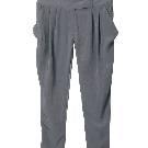 Etam 铁灰色七分吊脚裤