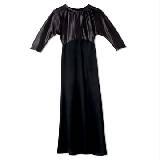 迦达黑色拼接连衣裙