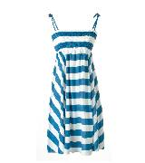Etam 蓝白条纹吊带裙