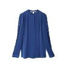 DVF 蓝色真丝衬衫