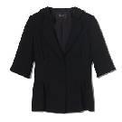 Giada 黑色五分袖西装
