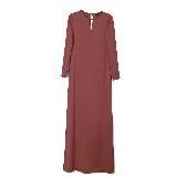 GIADA迦达枣红色优雅长裙