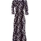 Diane von Furstenberg 长袖印花连衣长裙