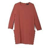 GIADA迦达枣红色连衣裙