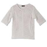 GIADA迦达白色针织羊毛衫