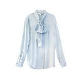 DVF 淡蓝色雪纺衬衫