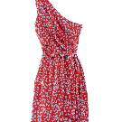 Diane von Furstenberg 斜肩印花连衣裙