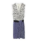 DVF 蓝白色印花连衣裙