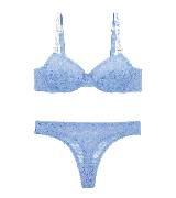 Stella McCartney斯特拉·麦卡特2014春夏系列蓝色蕾丝内衣