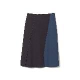 GIADA迦达黑蓝拼接短裙