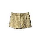 DVF 金色帆布短裤