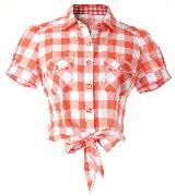 Etam 格纹衬衫