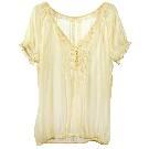 Etam 浅黄色半透明衬衫