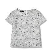 Giada迦达灰花T恤