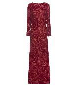 Tadashi Shoji庄司正红色暗纹礼服