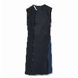 GIADA迦达无袖黑蓝拼接连衣裙