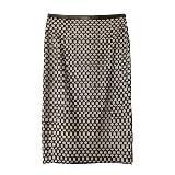 DVF 黑色网格半裙