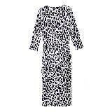 Diane von Furstenberg蓝×白几何超长连衣裙