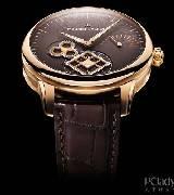 艾美匠心 秒针方轮玫瑰金腕表