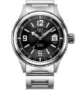 波爾戰火勇士 NM2088C-PJ-BKRD(黑色面配白色時標/不銹鋼表帶)