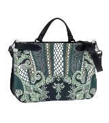 ETRO 民族风印纹手提包