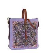 ETRO 紫色印花手提包