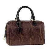 ETRO 棕色印花手提包