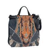ETRO 橘黄色民族印纹手提包