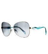 Emilio Pucci 水蓝色金属框眼镜