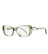 Emilio Pucci 橄榄绿矩形框眼镜