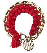 Carolina Herrera 红色编织手环