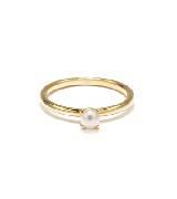 Circle Jewelry思念·18k黄金akoya海水珍珠戒指