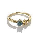 Circle Jewelry18k黄金白金黑欧泊钻石戒指