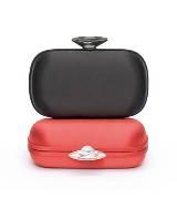 Giuseppe Zanotti Design 黑色宝石扣手拿包