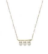 Circle Jewelry相随 · 18k黄金三珠项链