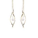 Circle Jewelry眼泪 · 18K黄金珍珠耳环