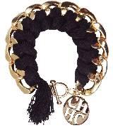 Carolina Herrera 黑色编织手环