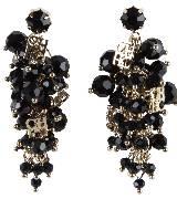 Carolina Herrera 黑色宝石串珠耳环