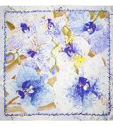 Carolina Herrera 淡蓝色兰花方巾
